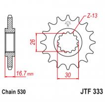 333.16RB, Звезда ведущая , с демпфером, JT 333.16RB