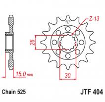 404.17RB, Звезда ведущая , с демпфером, JT 404.17RB
