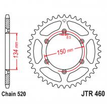 460.49, Звезда задняя (ведомая),(сталь) JT 460.49