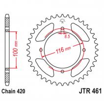 461.50, Звезда задняя (ведомая),(сталь) JT 461.50