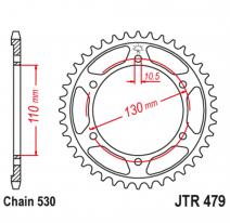 479.45, Звезда задняя (ведомая),(сталь) JT 479.45