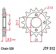 512.15RB, Звезда ведущая , с демпфером, JT 512.15RB