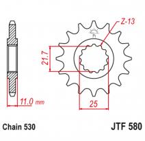 580.17RB, Звезда ведущая , с демпфером, JT 580.17RB