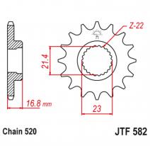 582.16RB, Звезда ведущая , с демпфером, JT 582.16RB