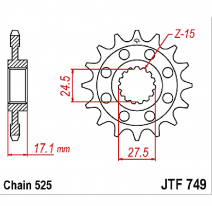 749.15, Звезда ведущая , JT 749.15