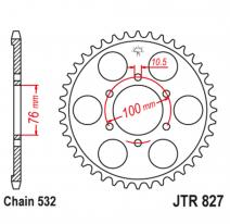 827.52, Звезда задняя (ведомая),(сталь) JT 827.52