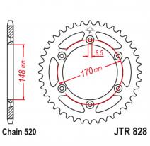 828.47, Звезда задняя (ведомая),(сталь) JT 828.47