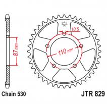 829.44, Звезда задняя (ведомая),(сталь) JT 829.44