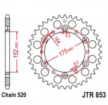 853.46, Звезда задняя (ведомая),(сталь) JT 853.46