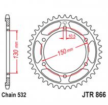 866.46, Звезда задняя (ведомая),(сталь) JT 866.46