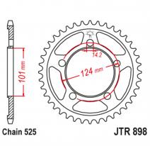 898.41, Звезда задняя (ведомая),(сталь) JT 898.41