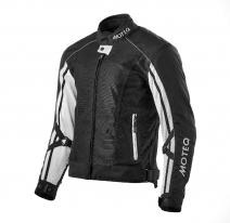 M01531 (черный/белый, S), Куртка текстильная  MOTEQ REBEL, мужской(ие), размер S, цвет черный