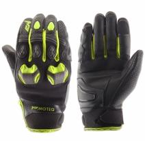 M02301 (Черный/Желтый, XS), Кожаные перчатки Stinger флуоресцентно-желтые