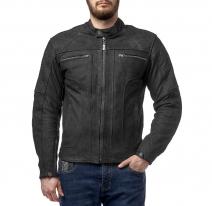 M08501 (Черный, S), Куртка кожаная  MOTEQ Armada, мужской(ие), размер S, цвет черный