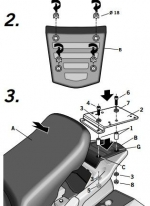 H0PN12ST, Крепление для верхнего кофра shad на honda st1300 paneuropean (02-11)