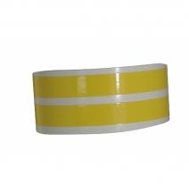319-903, Наклейка на колесный диск желтая, цвет Желтый