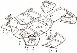 40.1052, Комплект защиты для квадроцикла atv polaris sportsman 800 efi