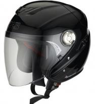 X10801 (Стекловолокно, глянец, Черный, XL), Открытый шлем HX91 чёрный, цвет Чёрный