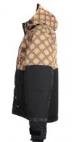 X80007-038-XS, Куртка для езды на снегоходе square коричневая клетка., размер XS