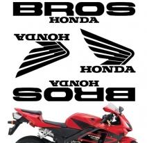 "decals_bros_black, Комплект наклеек ""honda bros"" black"