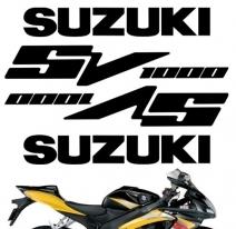 """decals_sv1000_silver, Комплект наклеек """"suzuki sv1000"""" silver"""