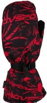 A07362 (Черный/Красный, размер XS), Снегоходные Варежки Tundra, черный/красный