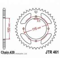461.50, Звезда задняя (ведомая) jtr461 для мотоцикла стальная