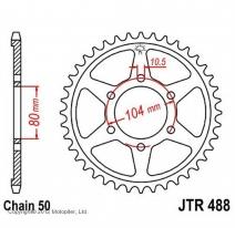 488.44, Звезда задняя (ведомая) jtr488 для мотоцикла стальная