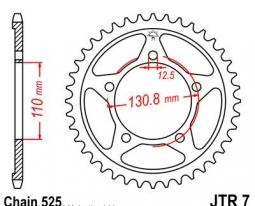 7.45, Звезда задняя (ведомая) для мотоцикла jtr7