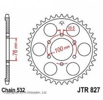 827.43, Звезда задняя (ведомая) для мотоцикла jtr827