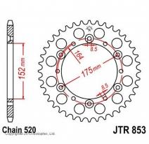 853.49, Звезда задняя (ведомая) jtr853 для мотоцикла стальная