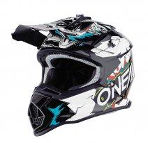 0200-45 (Белый/черный, M), Шлем кроссовый O'NEAL 2Series YOUTH VILLAIN, детский, размер M, цвет белый