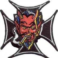 02101107, Нашивка Дьявол в кресте