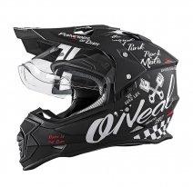 0817-60 (черный/белый, S), Шлем кроссовый со стеклом Sierra II TORMENT