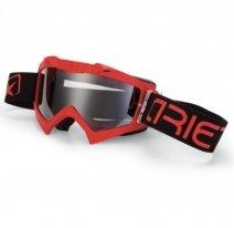 14001-PPR, Маска кроссовая Ariete ADRENALINE PRIMIS PLUS, красный, прозрачная линзы
