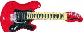 14462161, Нашивка guitar red - гитара красная