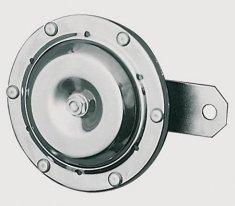 215-412, Гудок хром 12v, диаметр 100mm