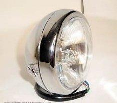 "222-090, Фара 114 мм (4 1/2 "") хром с 2 лампами"