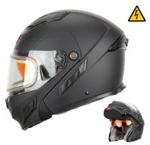 260-E1022 (черный, XL), Шлем снегоходный XTR MODE2, стекло с электроподогревом, мат., размер XL, цвет черный