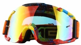 6032S-203, Кроссовая маска b2 rl goggle spray оранжевая/радиум, цвет Разноцветный