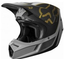 Fox V3 Kila Helmet Navy/Yellow