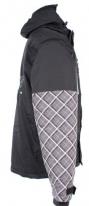 X80007 (Черный/Серый, размер XS), Куртка для езды на снегоходе SQUARE серая клетка.