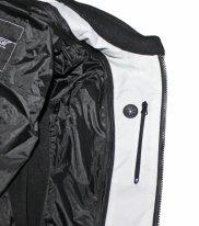 A01502 (Белый/Чёрный, L), Мотоциклетная текстильная женская куртка XENA белая, размер L