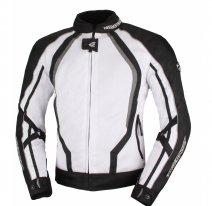 A01507 (Белый, XS), Текстильная куртка Solare II чёрно-белая, размер XS