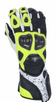 A02304-351-09, Мотоперчатки кожаные evolution черн/жел/бел, размер M