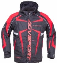 A07566 (Черный/Красный, размер S), Снегоходная куртка ARCTIC II,черная/красная