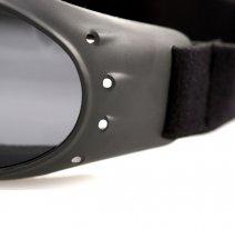 BCA001R, Очки cruiser чёрные с зеркальными линзами antifog