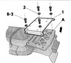 H0T66T, Крепление верхнего кофра на honda transalp xl600v - 91/99