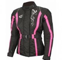 A01517 (Черный/Розовый, XXS), Текстильная женская куртка Mistic черно-розовая, размер XXS