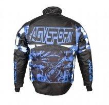 A07586 (черный/синий, M), Снегоходная куртка Taiga, черная/синяя